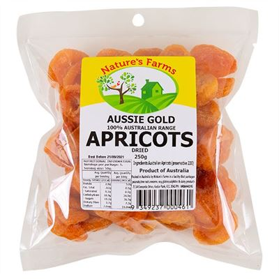 Picture of AUSSIE GOLD DRIED APRICOTS 250G
